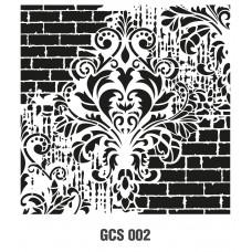GCS002 Grunge Duvar Stencil 45x45cm