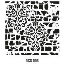 GCS003 Grunge Duvar Stencil 45x45cm