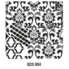 GCS004 Grunge Duvar Stencil 45x45cm