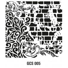GCS005 Grunge Duvar Stencil 45x45cm