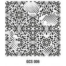 GCS006 Grunge Duvar Stencil 45x45cm