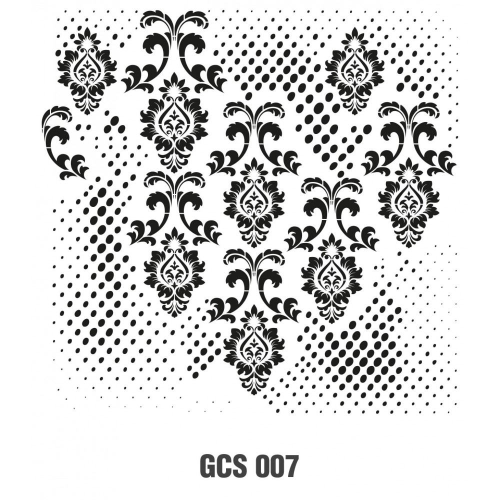 GCS007 Grunge Duvar Stencil 45x45cm