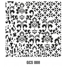 GCS008 Grunge Duvar Stencil 45x45cm