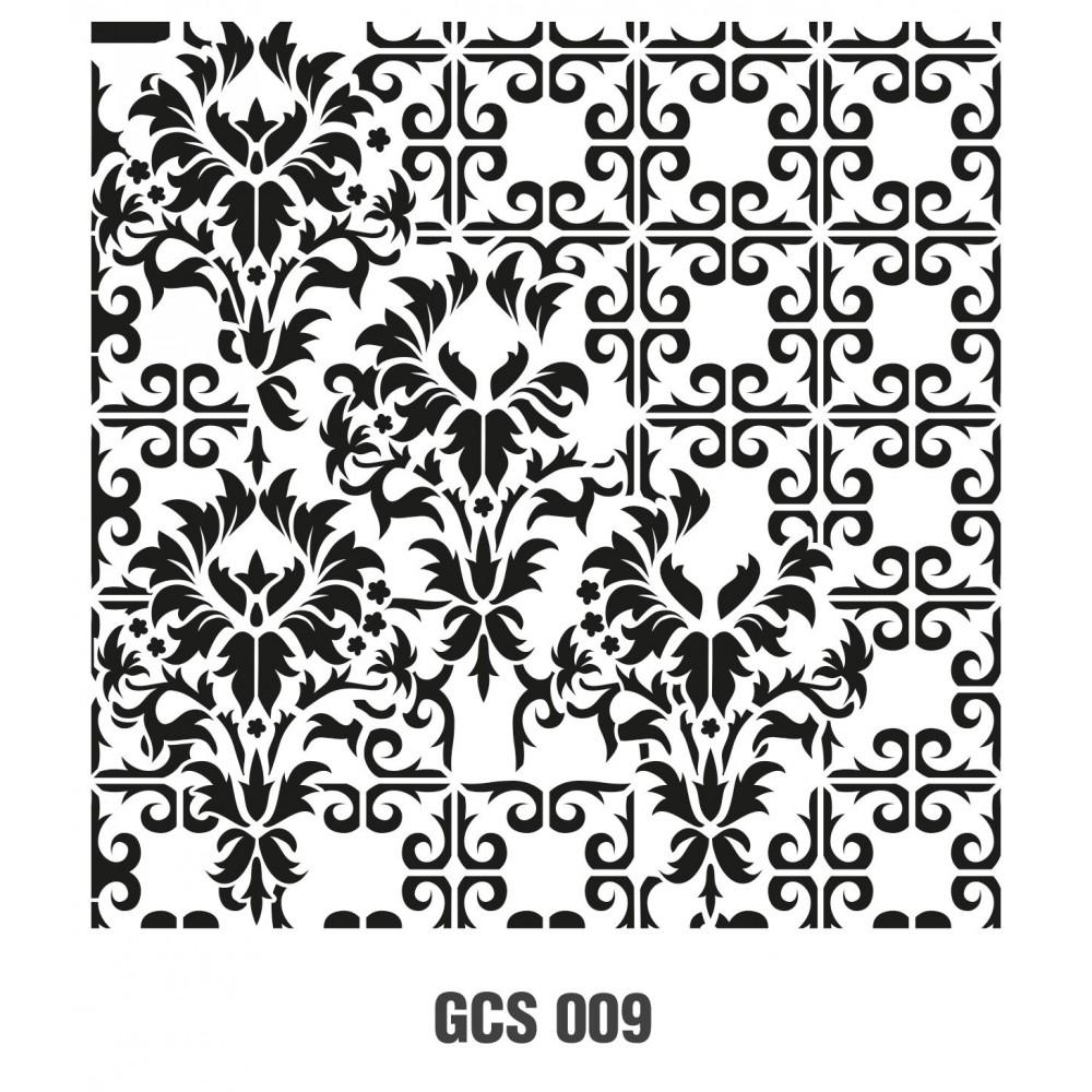 GCS009 Grunge Duvar Stencil 45x45cm
