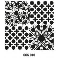 GCS010 Grunge Duvar Stencil 45x45cm