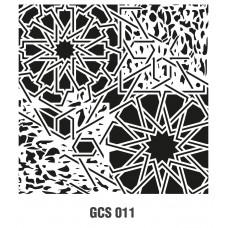 GCS011 Grunge Duvar Stencil 45x45cm