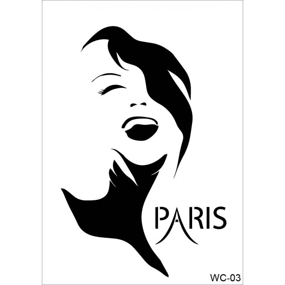 Woman Collection A4 Stencil WC03