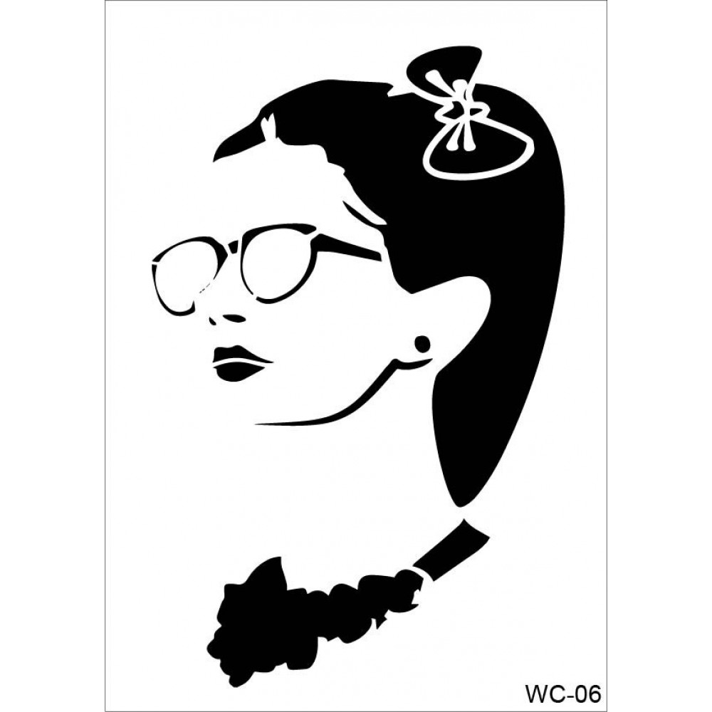 Woman Collection A4 Stencil WC06